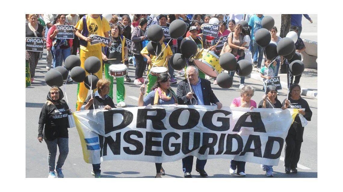 Archivo: marcha contra el narcotráfico en Tucumán.
