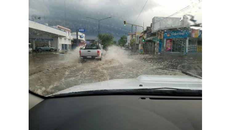 Caída de granizo en Junín.