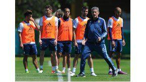 La Selección entrenó este domingo en el predio de Ezeiza.
