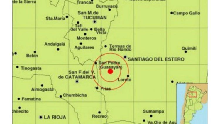 Los sismos tuvieron su epicentro en la localidad de San Pedro