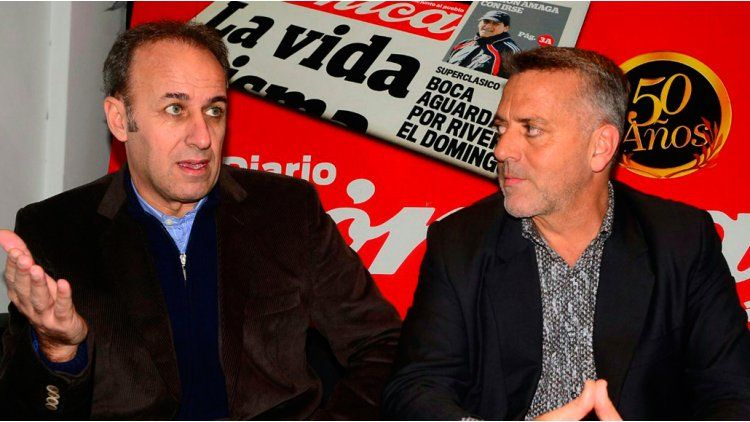 El guionista Ramón Garcés y el productor Jorge Zorzoni