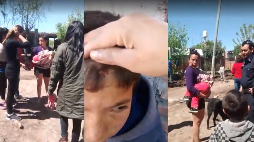 VIDEO: Indignación por el brutal maltrato de una madre hacia sus hijos en San Miguel