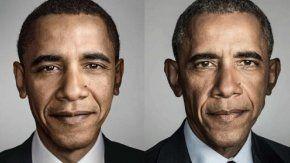 Así cambió la cara de Barack Obama en ocho años.