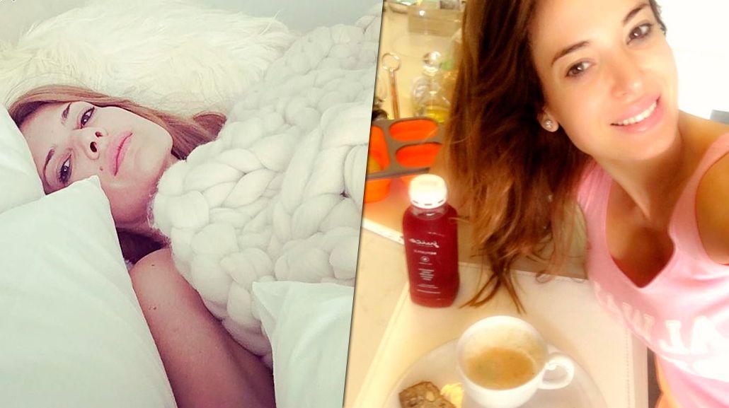 Las fotos mañaneras de Isabel Macedo y Jésica Cirio desde la cama