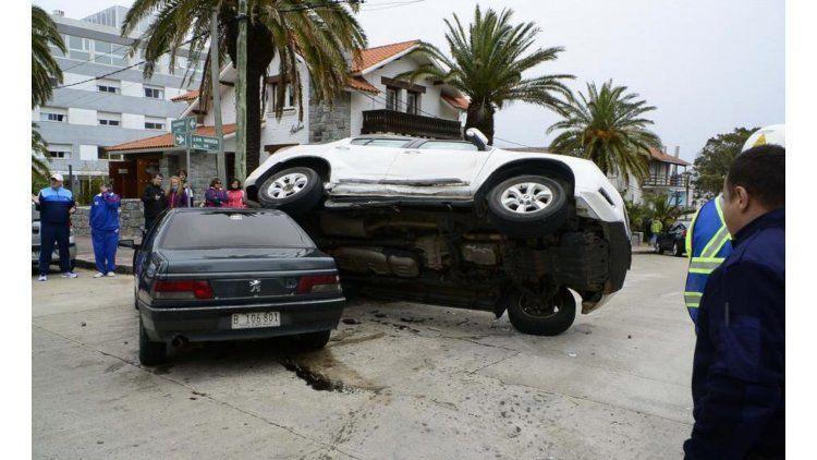 Triple choque en Punta del Este. Gentileza de diario El País.