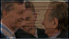 Mauricio Macri, junto a su padre Franco