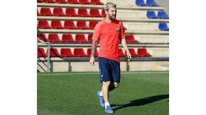 El rosarino se desgarró el 21 de septiembre ante el Atlético Madrid