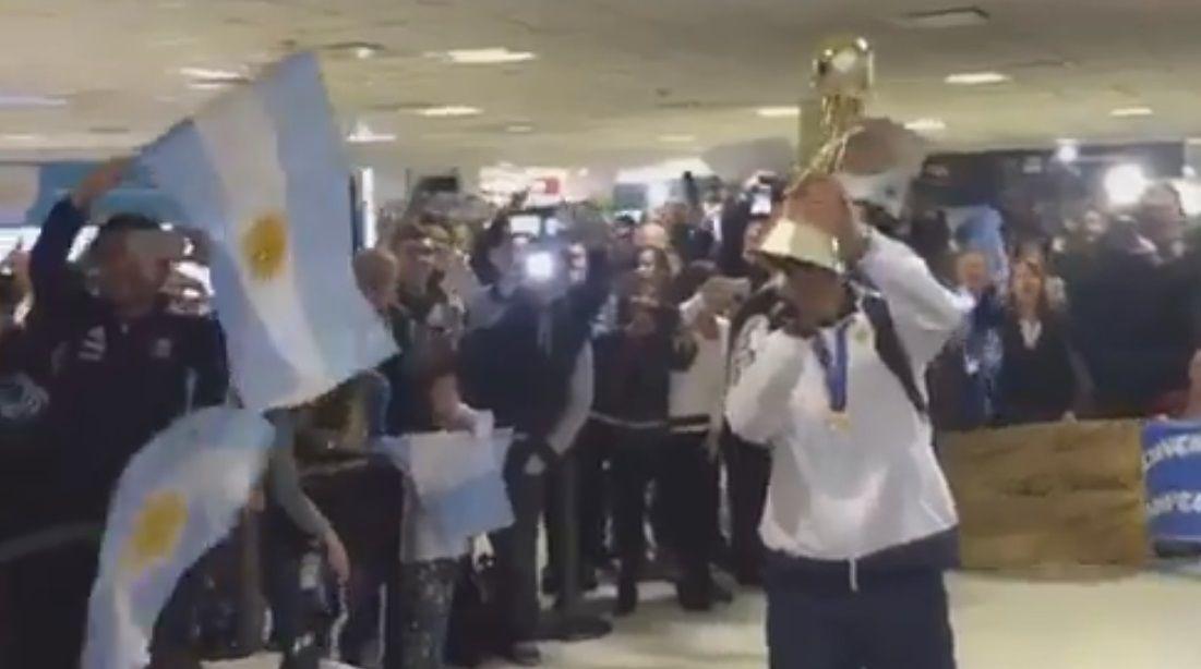 El recibimiento a los campeones