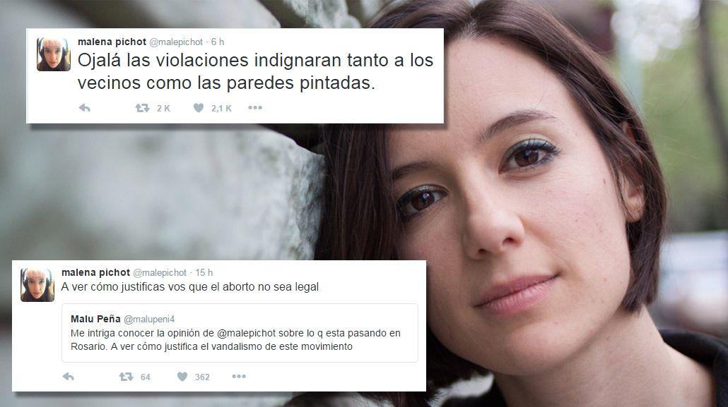 Genia: Malena Pichot sale a responder los insultos de Facundo Arana a las feministas