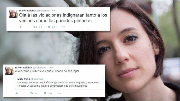 Malena Pichot hizo una reflexión tras la marcha realizada en Rosario.