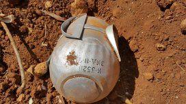 Una de las bombas que se encuentran en las calles de Siria