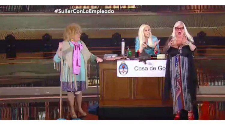Silvia Süller visitó a Susana Giménez durante el sketch con Gasalla