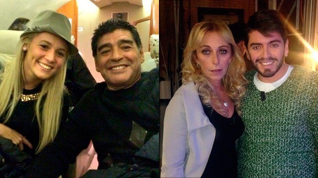 El Diez y su novia podrían mantener un encuentro con la madre de Diego Jr