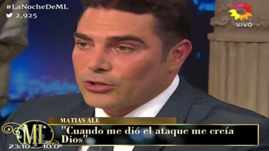 Matías Alé le contó a Mirtha legrand cómo fueron sus ataques.