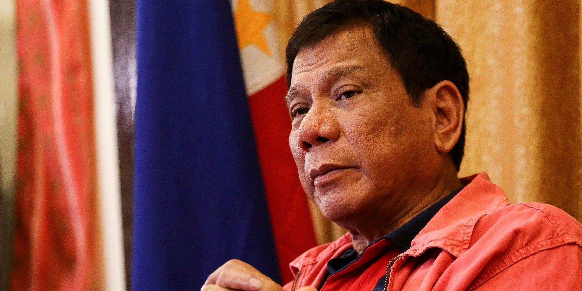 El presidente de Filipinas