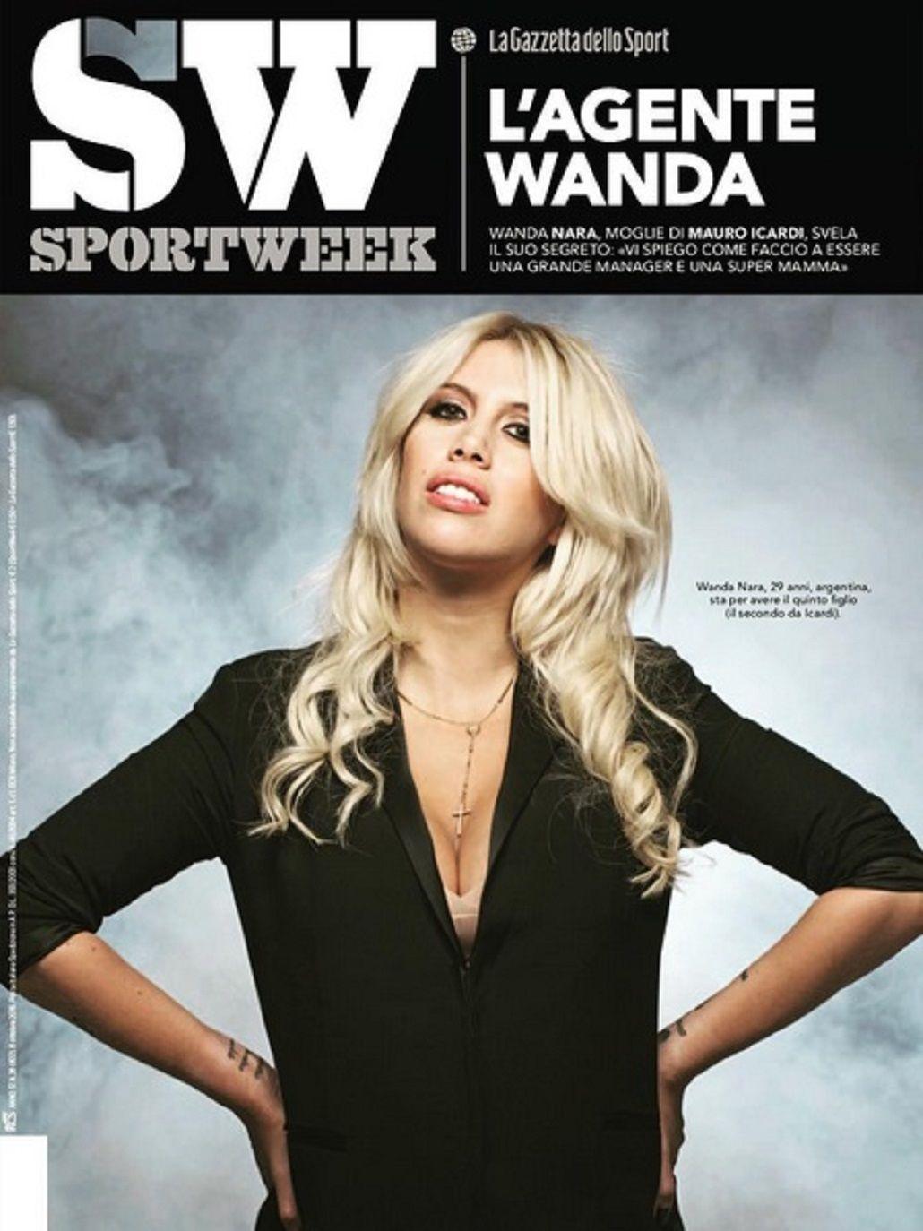 Wanda habló de su embarazo en una revista italiana