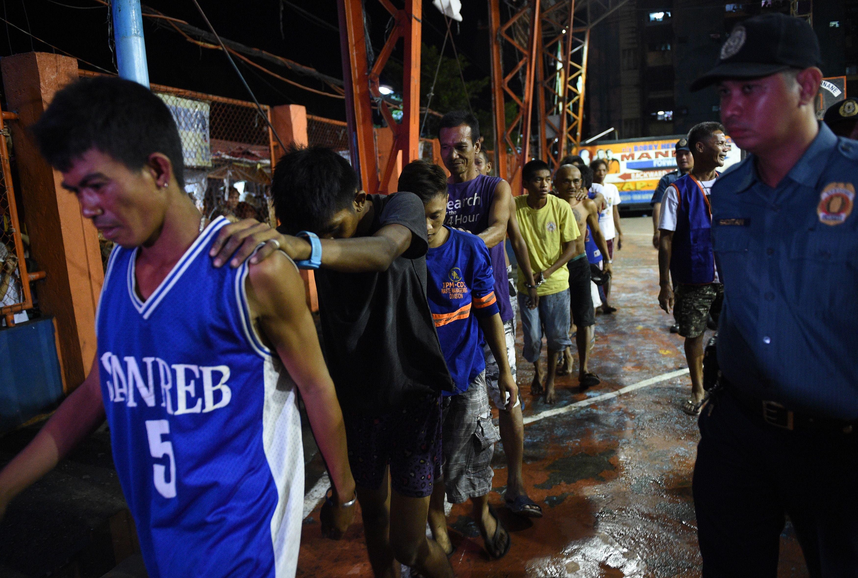 La Policía arrestó a usuarios y vendedores de droga en Manila