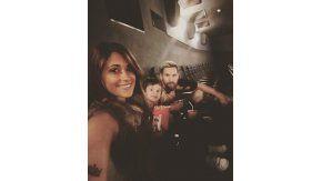 Lionel Messi y su familia, en el cine.