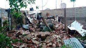 Temporal en Córdoba derrumbó una pared del estadio de Belgrano