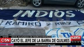 Cayó el jefe de la barra de Quilmes, acusado por narcotráfico