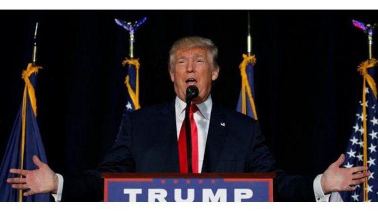 Donald Trump durante el debate presidencial