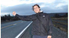 Ismael Caiazza, viajó a dedo durante cuatro años para obtener su título docente