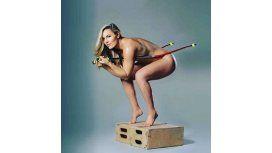 Lindsey Vonn, la ex de Tiger Woods, desnuda.