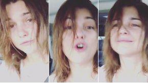A cara lavada y despeinada, Araceli González canta en las redes sociales