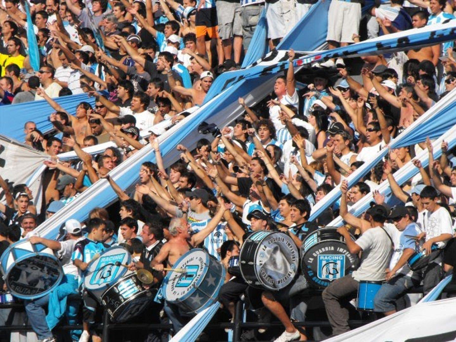 Barra de Racing.<br>