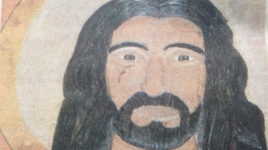 Esta es la imagen del Cristo que llora sangre en una iglesia de Posadas