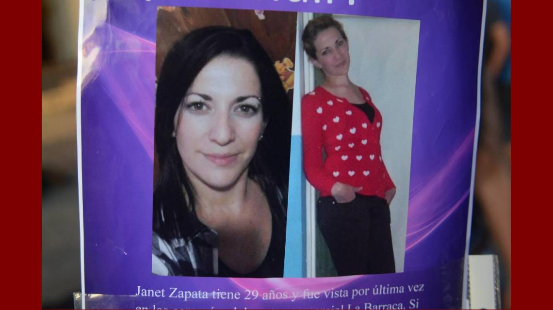 Janet Zapata fue intensamente buscada durante cinco días.