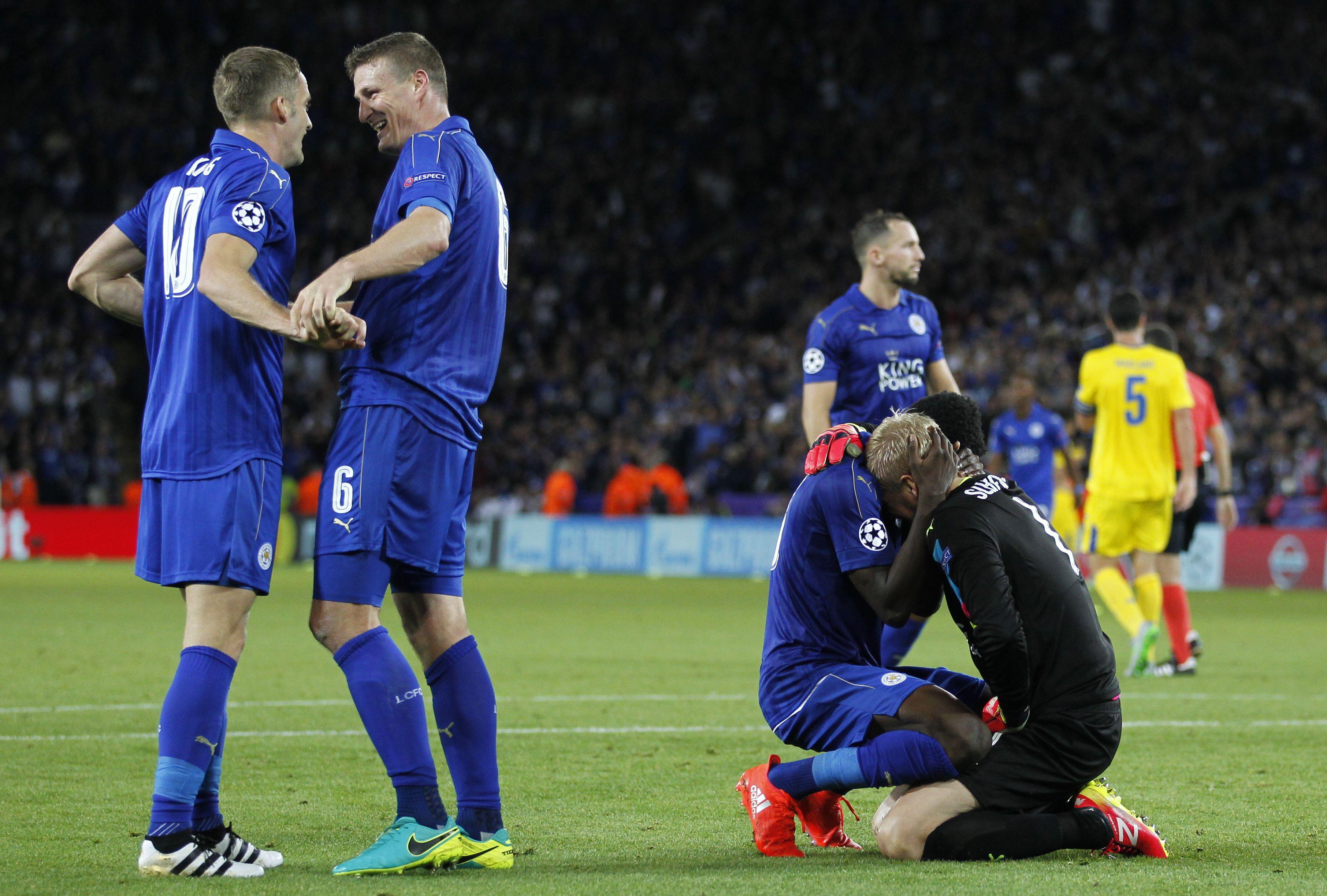Leicester volvió a ganar y tiene puntaje ideal en la Champions League