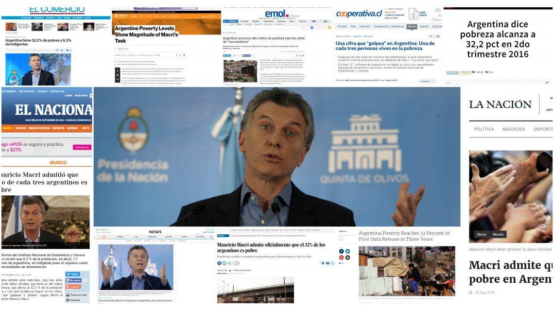 Medios del mundo se hicieron eco de la noticia sobre la alta tasa de pobreza en Argentina