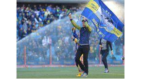 El tandilense muestra su pasión por Boca cada vez que puede