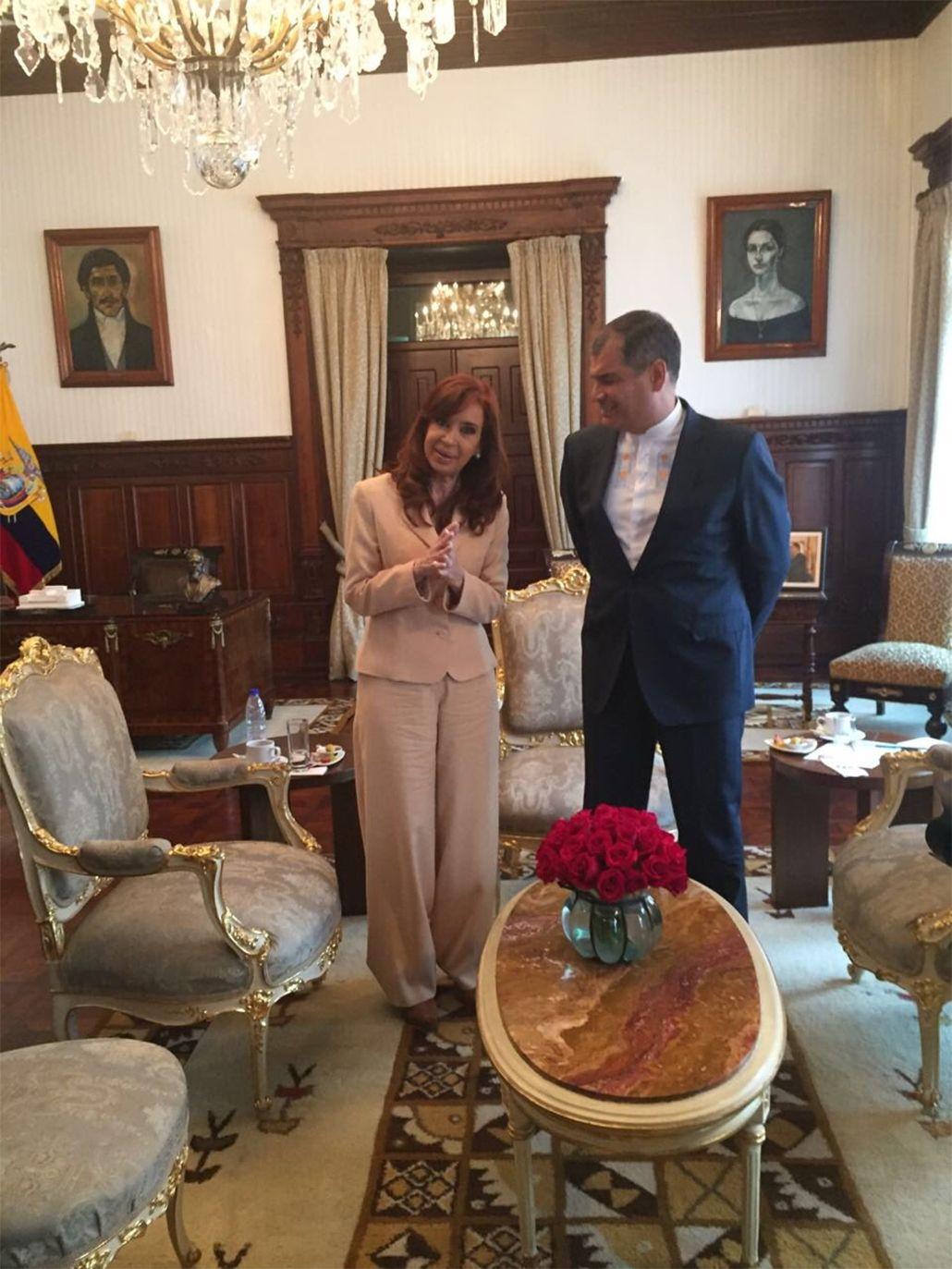 Junto a Cristina, Correa denunció un plan para atacar a líderes progresistas