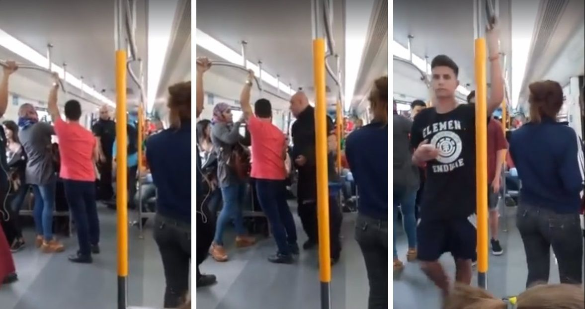 VIDEO: Un empleado del Ferrocarril Mitre quiso bajar a dos chicas por besarse