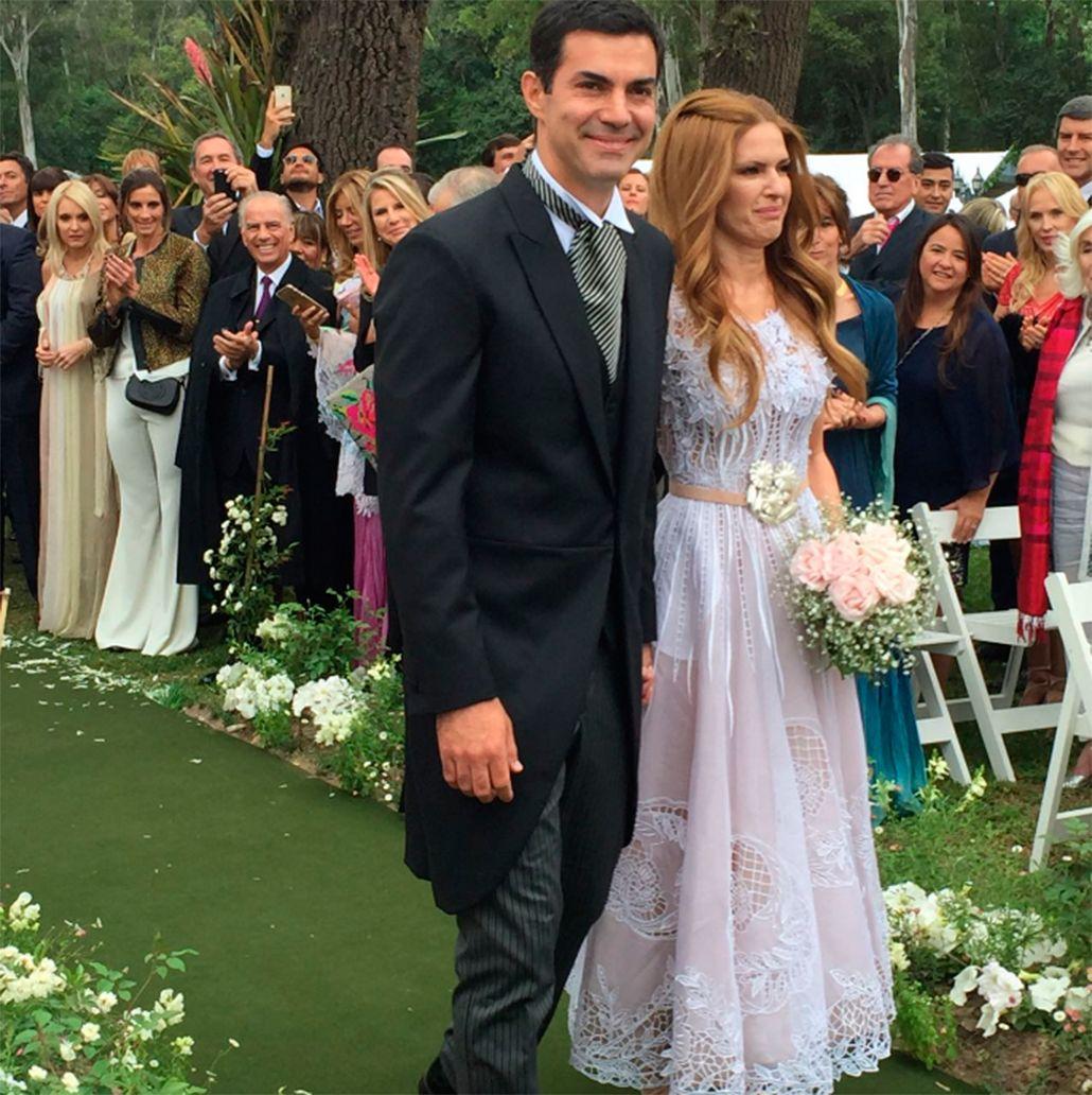 El look de Isabel Macedo en su casamiento con Juan Manuel Urtubey