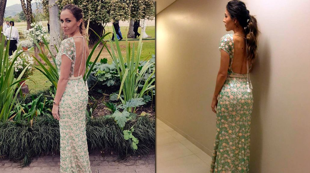Gisela Dulko usó en la boda de Macedo y Urutubey el mismo vestido que Jimena Barón en la gala de Gente