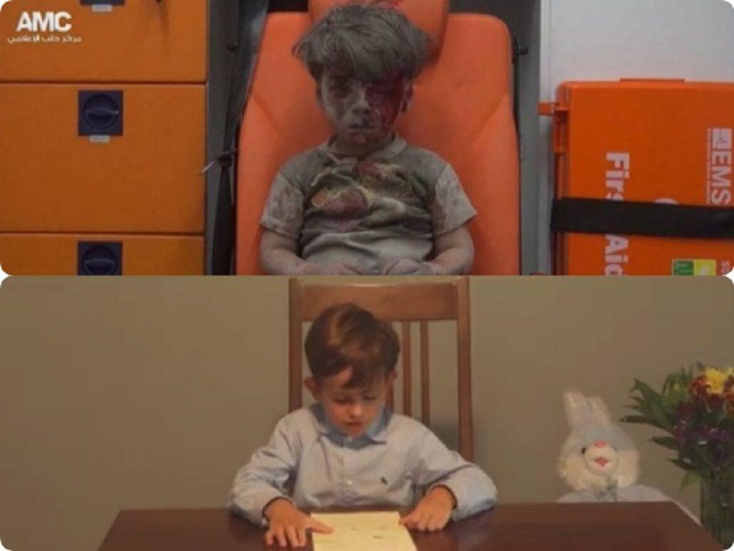 La carta de un nene a Obama por Omran, el chico sirio: ¿Puede traerlo a nuestra casa?