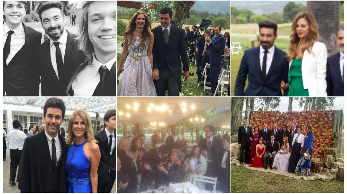 Fotos: Mariano Martínez y el Pocho Lavezzi, muy divertidos en la boda de Macedo y Urtubey