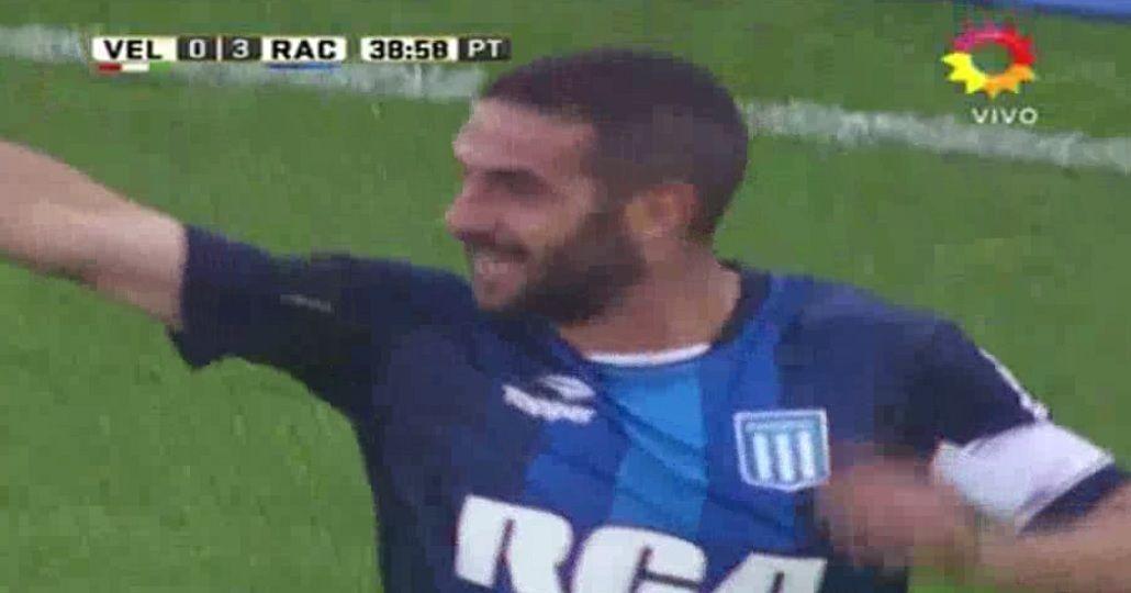 El golazo de Licha López para liquidar el partido frente a Vélez