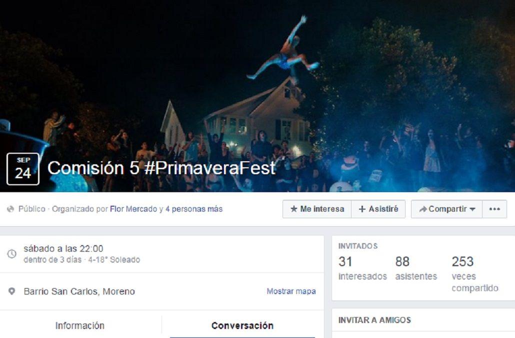Alarma por otra supuesta fiesta ilegal este fin de semana en Moreno