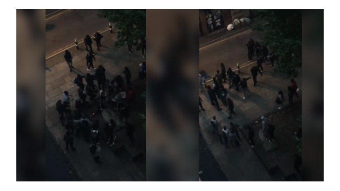 Una pelea callejera de más de 100 alumnos movilizó a la Policía en Manchester