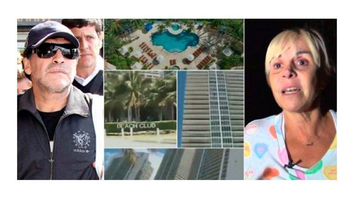 Revés judicial para Claudia Villafañe en Miami: Maradona le reclama 5 millones de dólares