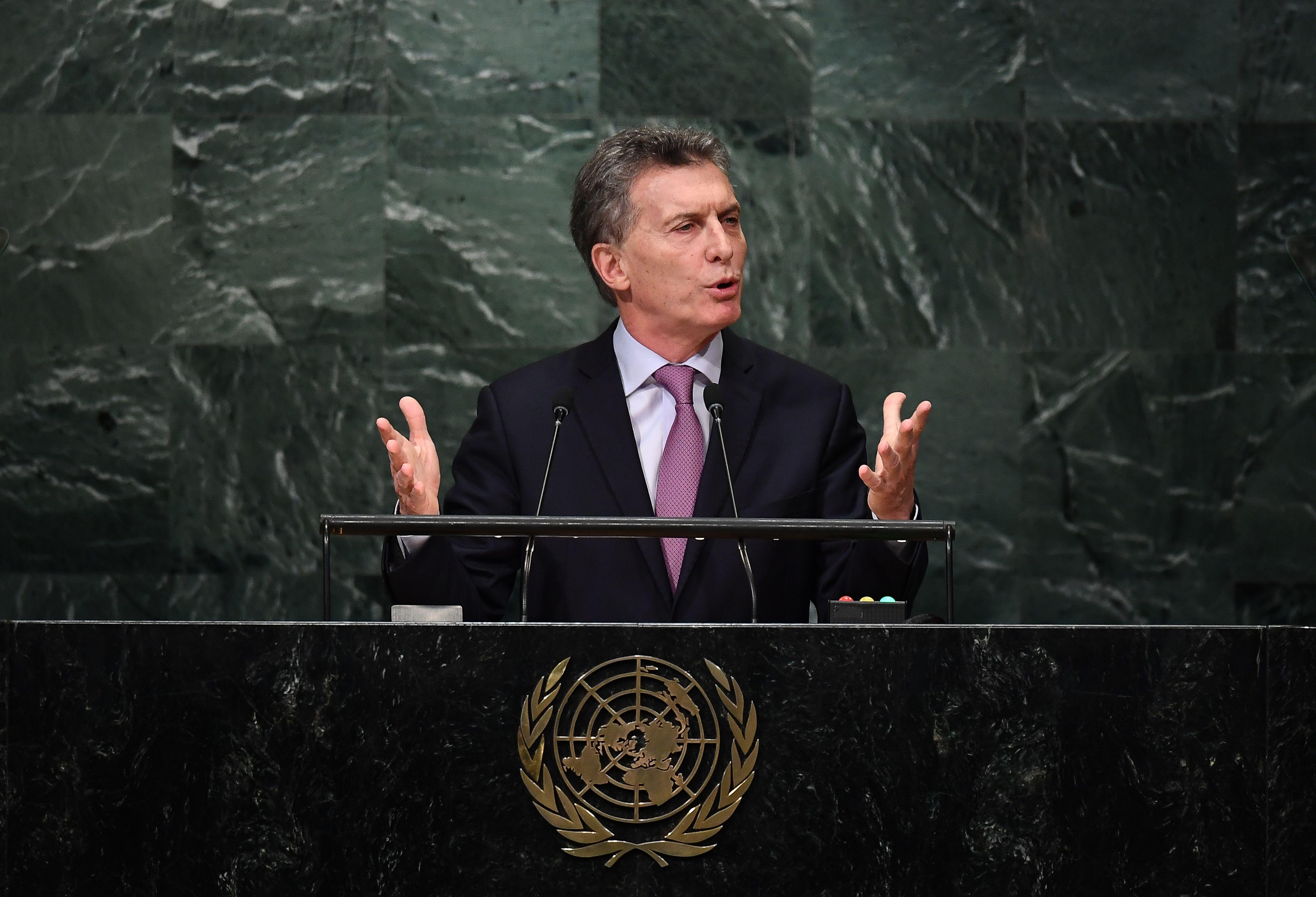 Macri viajaría a Nueva York para hablar ante la ONU y recibir un premio