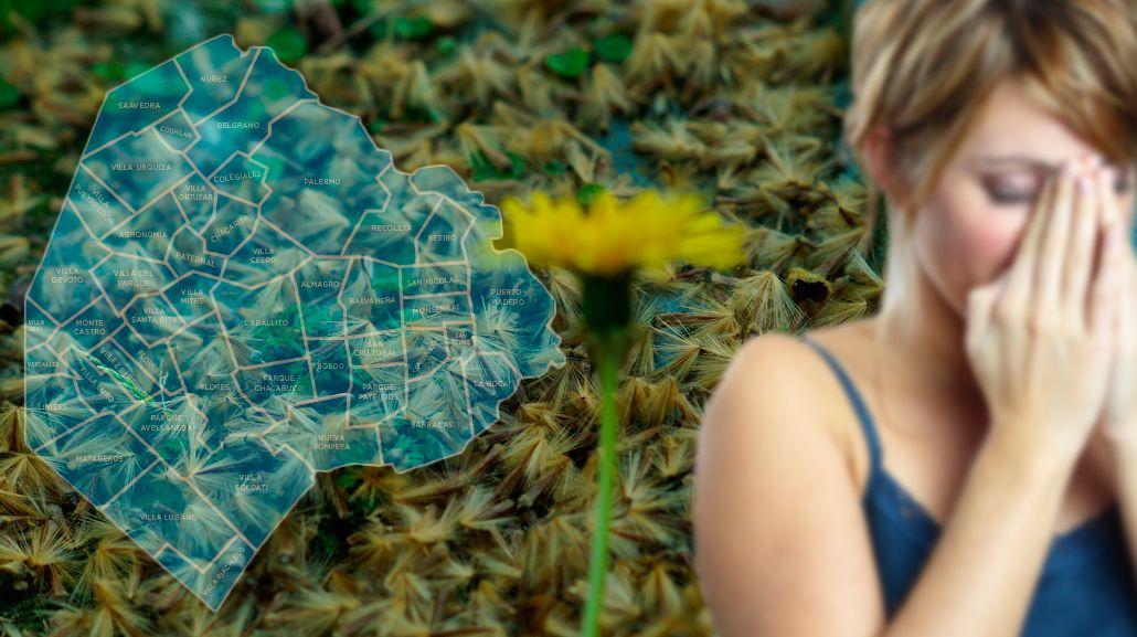 El mapa del estornudo: ¿qué lugares de la Ciudad debés evitar si sos alérgico al polen?