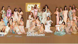 Todas las famosas en la portada de la revista Gente en su gala aniversario