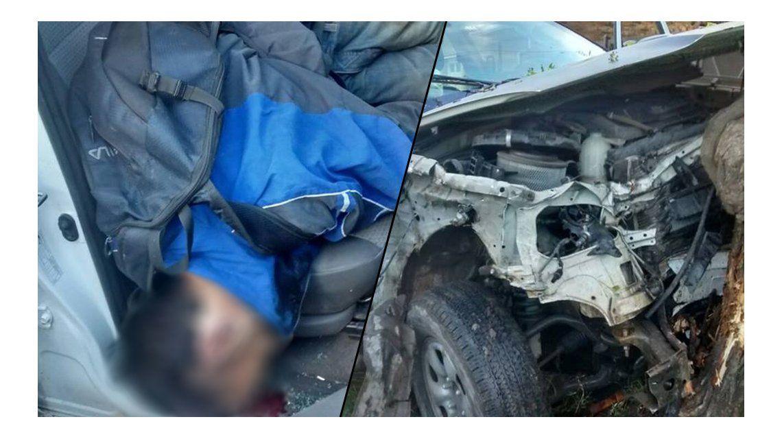 Un delincuente robó un patrullero, chocó y murió