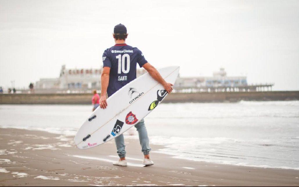 Orgullo cuervo: el mejor surfista argentino representará a San Lorenzo en el mundo