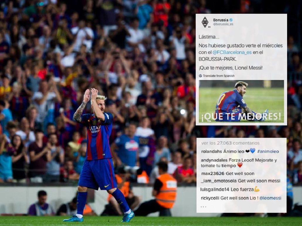 Messi agradeció los mensajes de apoyo y prometió que volverá más fuerte